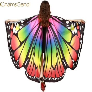 Chamsgend Newly Design Women Butterfly Wings Pashmina Shawl Scarf