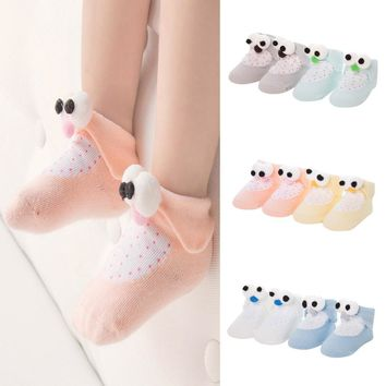 2 pairs Cotton Baby Socks Cute Penguin Design
