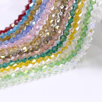 AB Color Glass Bicone Beads 4mm 220pcs/lot Top quality Faceted Crystal Loose Charms Bead For DIY Jewelry Gifts & Handrafts