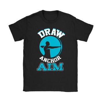 Graphic Archery Shirt Draw Anchor Aim Gildan Womens T-Shirt