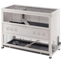 Ferplast Cottage Rabbit Hutch, Large, 129 x 68 x 103.5 cm:Amazon.co.uk:Pet Supplies