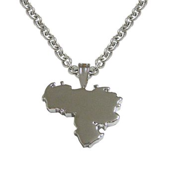 Venezuela Map Shape Pendant Necklace