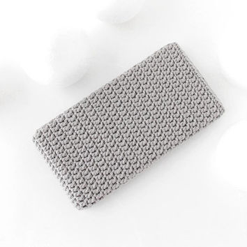 Grey Honor 10 phone cover, iPhone 8 plus cozy, crochet Galaxy S9 plus pouch, vegan Moto G6 sock, Samsung Note 8 sleeve, hipster LG G7 case