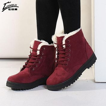 Women Warm Winter Shoes Ankle Boots