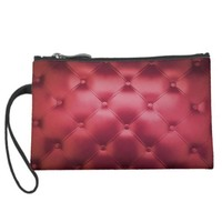red booth wristlet clutch