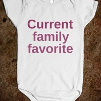 Current Family Favorite - Underline Designs - Baby Onsie