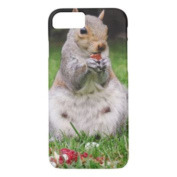 Cute Squirrel Enjoying Almond iPhone 7 Case