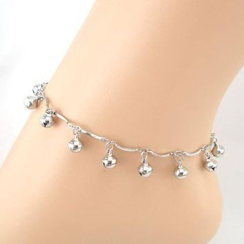 Lines Bell Pendant Anklet Bracelet Sandal Barefoot Beach Foot Jewelry
