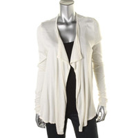 Chelsea & Theodore Womens Open Front Long Sleeves Cardigan Top