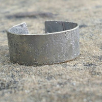Hammered Silver Ring - Thick Band - Adjustable Ring - Unisex Metal Ring - Handmade Rings