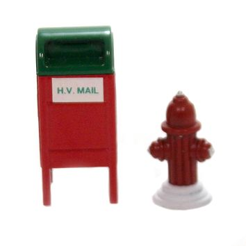 Department 56 Accessory MAIL BOX / FIRE HYDRANT SET / 2 Heritage Snow City Retired 52140