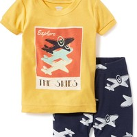 2-Piece Airplane-Graphic Sleep Set for Toddler & Baby | Old Navy