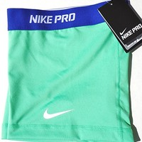 Nike Lady Pro Core II 2.5 Inch Compression Shorts [XS] X-Small, Mint