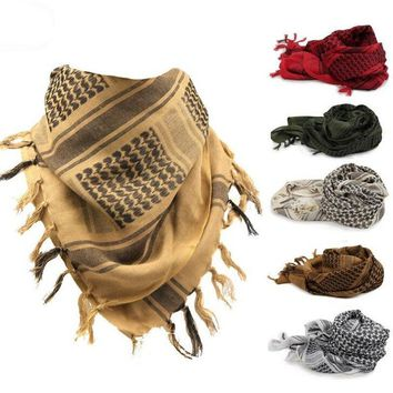 100% Cotton Arab Keffiyeh Shemagh Scarf Military Tactical Scarves Thickened Hijab Square Windproof Bandanas 2016 Camping Scarf