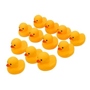 12PC Squeezing Call Rubber Duck Ducky Duckie Baby Shower Birthday Favors Rubber Duck bath toys for baby