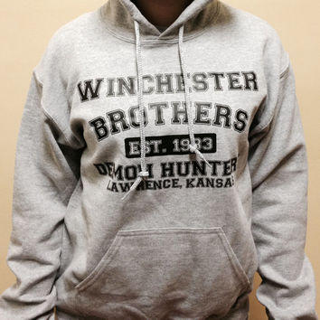 Supernatural winchester brothers demon hunters pull over hooded sweat shirt