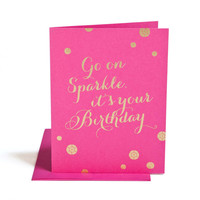 Sparkle It's Your Birthday Card