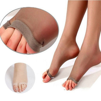 1Pcs Women's Sexy Fashion Unique Fish Mouth Style Tights Pantyhose Open Toes Stocking Tight  Anti-Hook Tight Silk 4 Colors