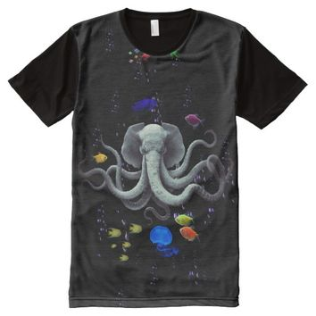 FUNNY ELEPHANT OCTOPUS TENTACLES All-Over-Print SHIRT