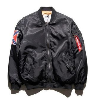Kanye West Tour Pilot Varsity Military Army Flight Air Force Bomber Jacket Winter Men's Hip Hop Ma1 Coat