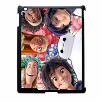 Big Hero 6 Selfie Floral All Characters iPad 3 Case