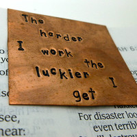 Hand Stamped Copper Bookmark - not all those who wander are lost J.R.R. Tolkien