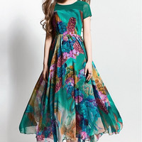 Chiffon A-Line Midi Dress