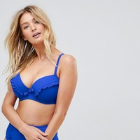 Pour Moi Padded Underwired Bikini Top B-F at asos.com