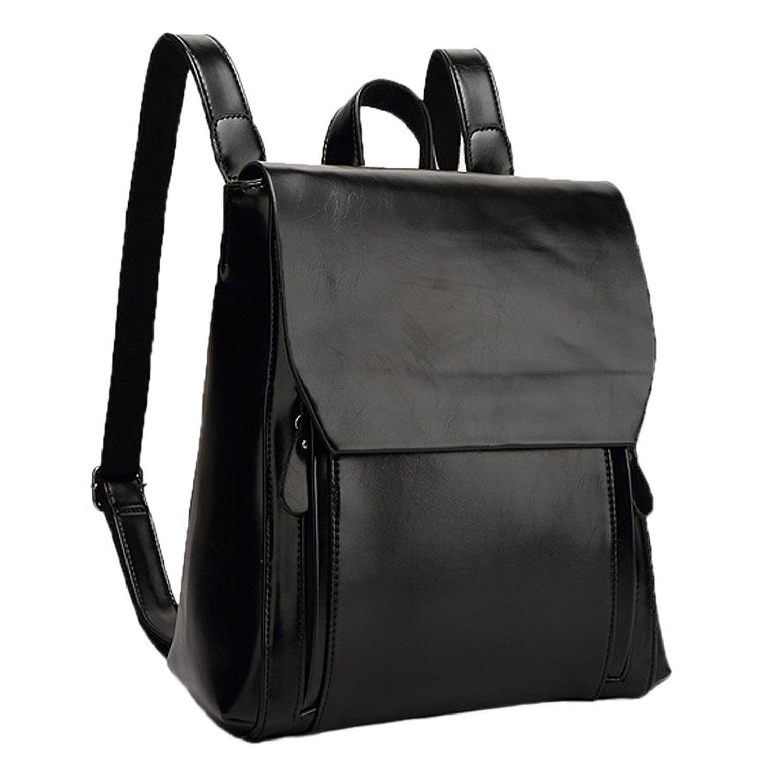 Black Leather Backpacks For Women Crazy Backpacks