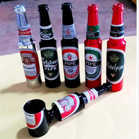Portable Beer Bottle Smoking Pipe