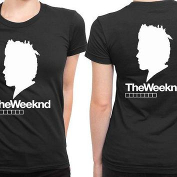 DCCK7H3 The Weeknd Siluet Two 2 Sided Womens T Shirt