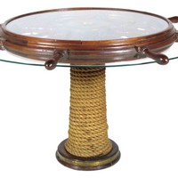Custom Ship's Wheel Table