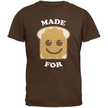 Chenier Couples Peanut Butter Sandwich Brown Adult T-Shirt