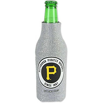 MLB 2013 Baseball Team Logo Womens Ladies Glitter Beer Bottle or Can Holder Koozie Cooler - All 30 Teams Avaialble! (Bottle, Pittsburgh Pirates)