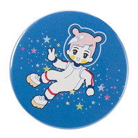 """SPACE TRAVELER"" BIG BUTTON"