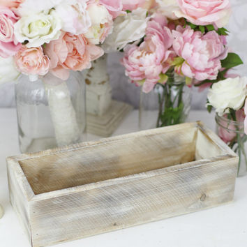 Distressed Barn Wood Style Rustic Planter Vase Box (item P10226)