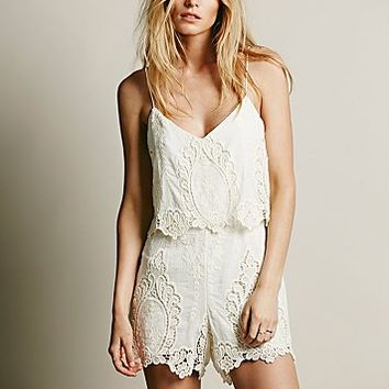 Dolce Vita Womens Gardner Lace One Piece - Cream / Natural,