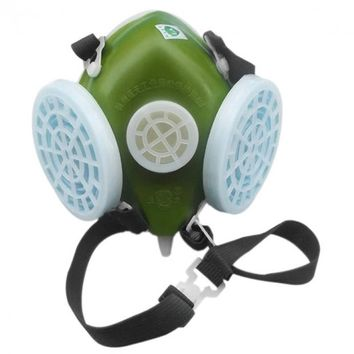 301-XK Industrial Gas Chemical Anti-Dust Spray Paint Mask Respirator Army Green