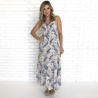 Heavenly Bloom Floral Dress In Ivory