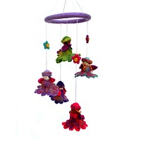 Felt Flower Fairy Baby Mobile - Nepal