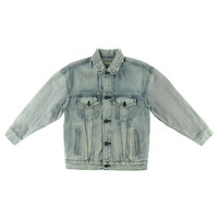Denim & Supply Ralph Lauren Womens Button Front Distressed Denim Jacket