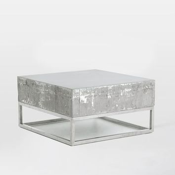 Concrete Chrome Coffee Table From West Elm - Concrete and chrome coffee table