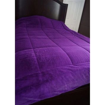 Must Have DormCo Exclusive Bedding - College Plush Comforter - Purple Comforters- Twin XL Accessories