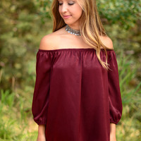 Too Good For You Top- Burgundy