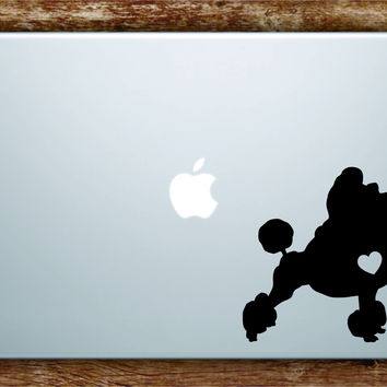 Dog Heart V2 Laptop Apple Macbook Quote Wall Decal Sticker Art Vinyl Car Window Animals Puppy Love Poodle