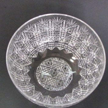 Antique Cut Glass finger bowl from the American Brilliant period, ABP