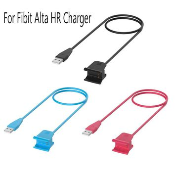 For Fitbit Alta HR Smart Wristband Replacement USB Charging Charger Cable with Restart Button 100cm Charger Cord Cable