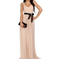 Pre-Order Valeria- Natural Long Homecoming Dress