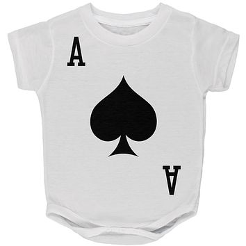 Halloween Ace of Spades Card Soldier Costume All Over Baby One Piece