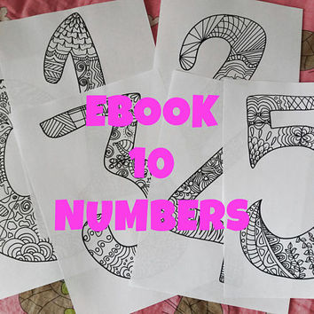 coloring numbers colouring kids adult coloring ebook pdf to count birthday anniversary download garland zentangle printable lasoffittadiste